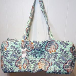 Vera Bradley Large Traveler Duffel Bag-Fan Flowers